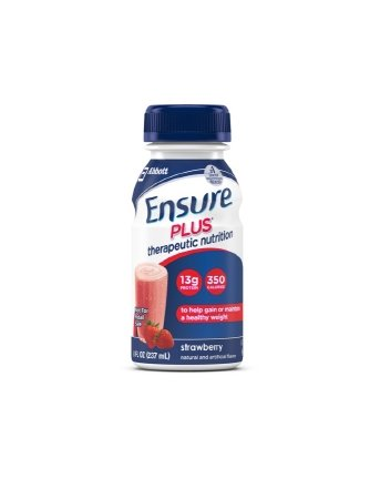 Ensure Plus Strawberry 8 Ounce Bottle, Ready to Use Case of 24