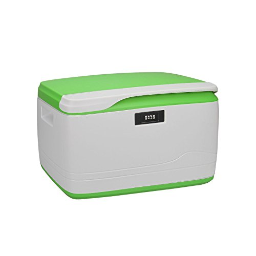 Locking Combination Medicine Box Child Proof Storage Container, 34-Quart/32L Need Assembled-Combination Lock Security
