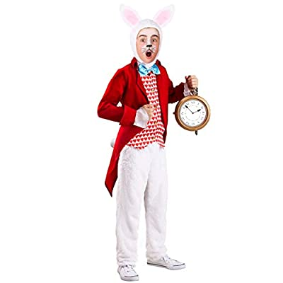 Dignified White Rabbit Costume for Kids: Clothing