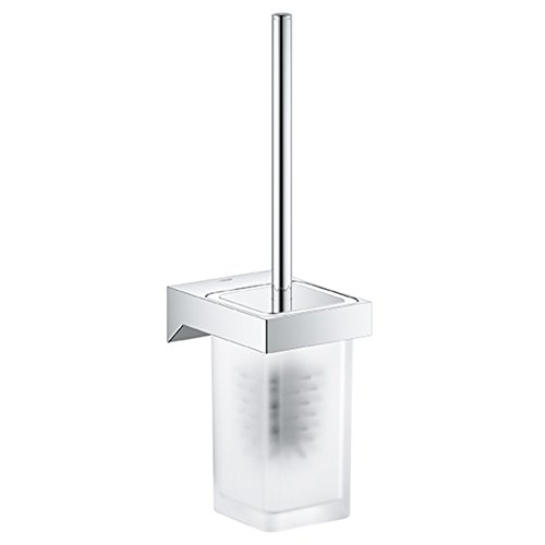 GROHE 40857000 Selection Cube Toilet Brush Set, Starlight Chrome by GROHE