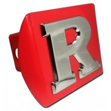 "Rutgers University Scarlet Knights Red with Chrome /""R/"" Emblem NCAA College Sports Trailer Hitch Cover Fits 2 Inch Auto Car Truck Receiver Elektroplate RUT-RED-HRC"