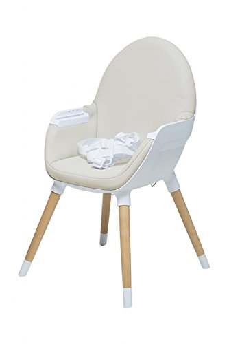 Beige Chaise haute Baby Fox Collection Fika
