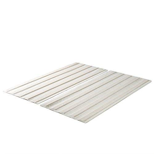 Zinus Annemarie Solid Wood Bed Support Slats / Fabric-Covered / Bunkie Board, Queen - Support Mattress