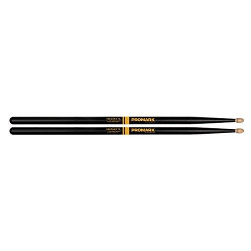 Promark ActiveGrip Rebound 7A Drumsticks, Acorn Tip, Black