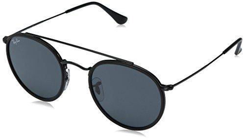 Ray-Ban Metal Unisex Round Sunglasses, Black, 51.1 - Ray Womens Black Bans