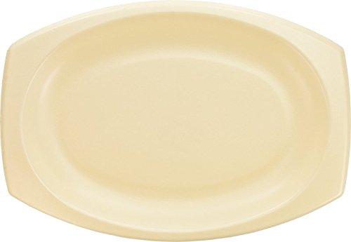 Platter Laminated Foam - Dart 11PRHQRS 11 in Honey Laminated Foam Platter (Case of 500)