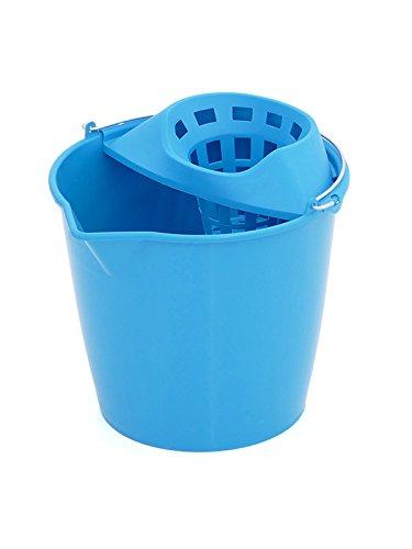 Plastiken 6213L CELESTE - Cubo fregona redondo 13 l. asa metalica