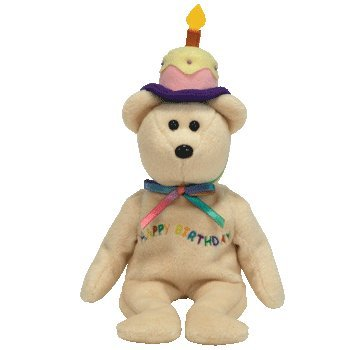 Amazon.com  TY Beanie Babies Happy Birthday - Birthday Beanie Bear ... ef7c5fb1555