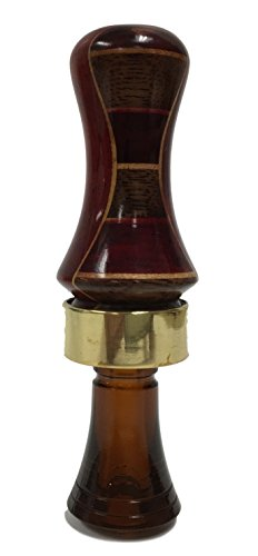 Wood Duck Single Reed - Classy Duck Calls 3l1b Pattern Solid Padauk Inlaid Hardwoods Single Reed