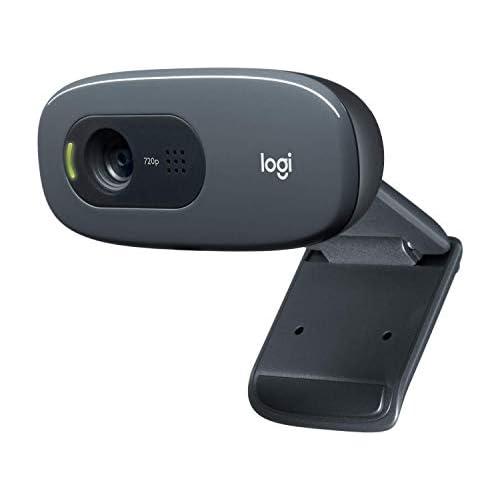chollos oferta descuentos barato Logitech C270 Webcam HD 720p 30fps Video Llamadaso HD Amplio Campo Visual Corrección de Iluminación Micrófono Reductor de Ruido Skype FaceTime Hangouts WebEx PC Mac Portátil Macbook Tablet