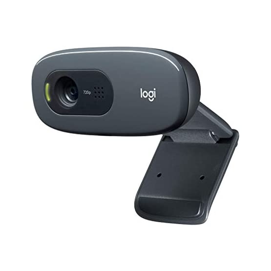 Logitech C270 3MP 1280 x 720pixels USB 2.0 Black Webcam 317opepNcEL. SS555