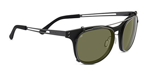 Serengeti 8060 Enzo Sunglass, Satin Black Frame Lens, Polar PHD 555nm Lens (Enzo Test)