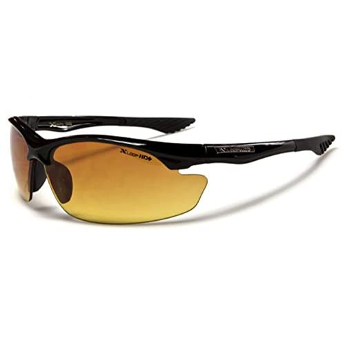 2 Pair XLoop High Definition HD Semi Rimless Anti-Glare Wrap Black Sunglasses