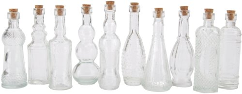 Darice 20140C Assorted Glass Bottle, 5-Inch, Clear ()