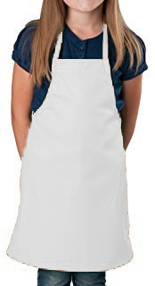 Aurum Creations Kid Series Multi-Color Kid Apron (5-10 Yrs) (White)