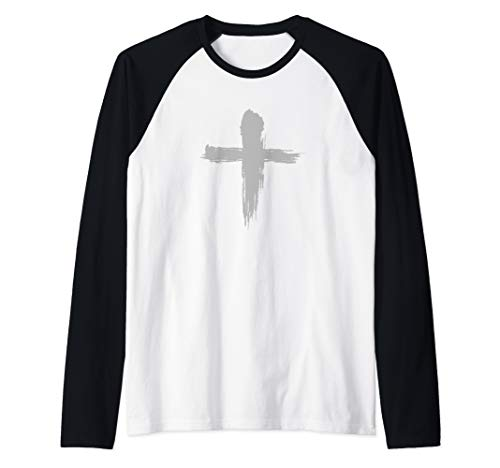 Ash Wednesday Hoodie - Catholic Lent Cross Blessing Raglan Baseball Tee