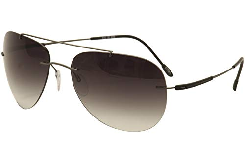 (Sunglasses Silhouette Adventurer 8142 6235 Classic Grey Gradient 58/17/130 3 pie)