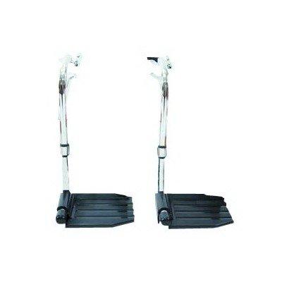 INVT93HEP - Invacare Corporation Economy Hemi Footrest without Heel Loop Composite Footplate, 1 - 3/8 Hanger Pin Spacing