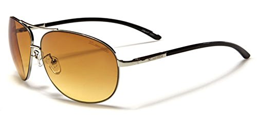 X-Loop HD Vision High Definition Lens Aviator Sunglasses wth Spring Hinge - - Hd Aviators