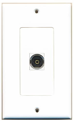 RiteAV - 1 Toslink Digital Audio Port Wall Plate Decorative White