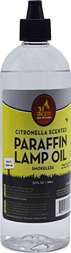 - Citronella Scented Lamp Oil, 32 Ounce - Smokeless and Odorless Insect and Mosquito Repellent Paraffin Lamp Oil for Indoor and Outdoor Lanterns, Torches, Oil Candle - by Ner Mitzvah