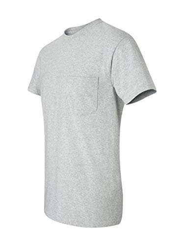 Gildan Mens 6.1 oz. Ultra Cotton Pocket T-Shirt G230 -SPORT GREY - Pocket Cotton T-shirt