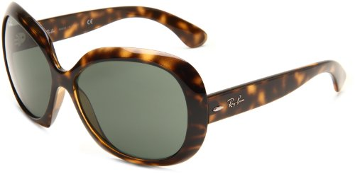 Ray-Ban JACKIE OHH II - LIGHT HAVANA Frame GREEN Lenses 60mm - Tortoise Sunglasses Ban Shell Ray