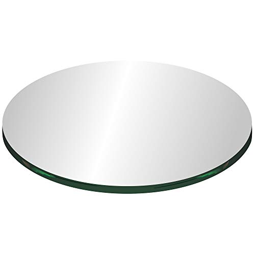 """42"""" Round Tempered Clear Glass Table Top 1/4"""" Thick"""