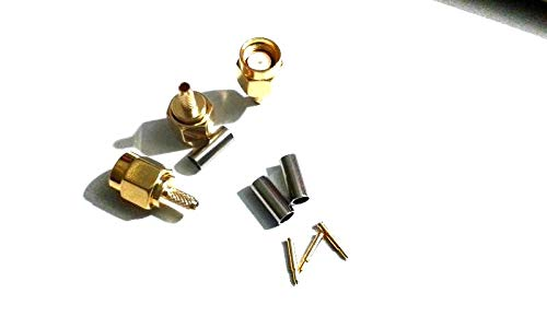 YOUKITTY 200pcs SMA Plug Male RF Crimp for LMR100 RG316 RG174 Cable Adapter