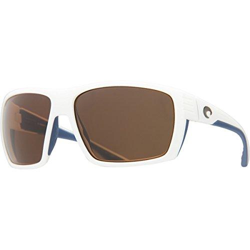 Costa Del Mar Hamlin Mens Polarized Sunglasses, White/Amber 580P, Extra Large