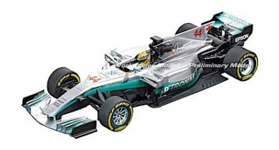 Carrera 20030840 30840 Mercedes-Benz F1 W08 L. Hamilton No. 44 1: 32 Scale Digital 132 Slot Car Racing Vehicle, Gray by Carrera