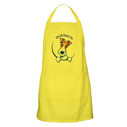 CafePress Wire Fox Terrier IAAM Apron Kitchen Apron with Pockets, Grilling Apron, Baking Apron