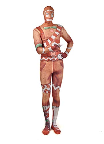 CosyBreath Spandex Lycra Deluxe 3D Gingerbread Man Halloween Cosplay Costumes Adult/Kids 3D Style ()