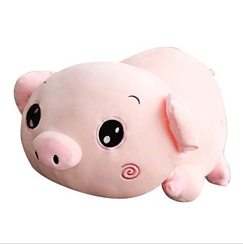 40cm L@LILI Soft pig pig pig mascot plush toy doll pig pig lazy accompanying cushion for sleeping, pink Size  40 cm, 50 cm, 65 cm plush,40cm