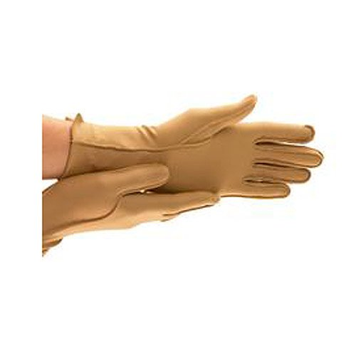 ISOTONER Full Finger Therapeutic Gloves - A25831 (Small, Camel)