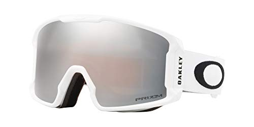 Oakley Line Miner Snow Goggle, Matte White, Medium, Prizm Black Iridium ()