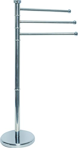 EVIDECO Stainless Steel Towel Rack Tree 3 Swiveling Arms - Arm 3 Towel Stand Holder