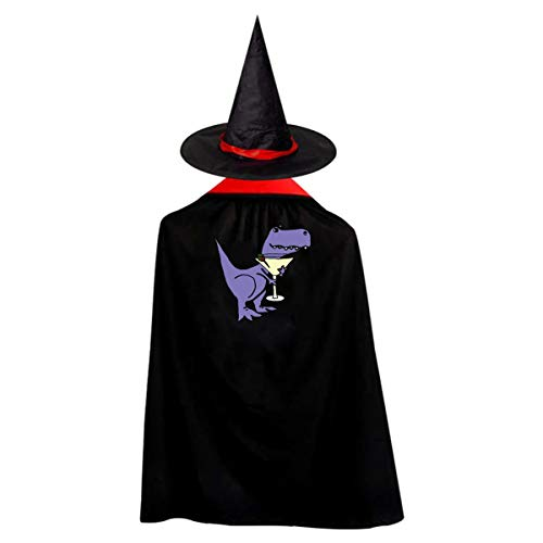 Dinosaur Kids' Witch Cape With Hat Cute Vampire Cloak For Halloween Cosplay -