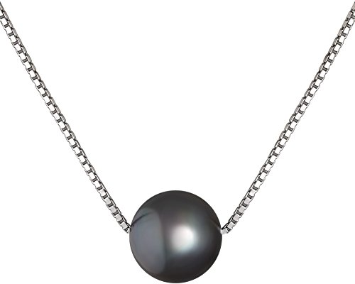 8mm Black Freshwater Pearl Necklace - 5