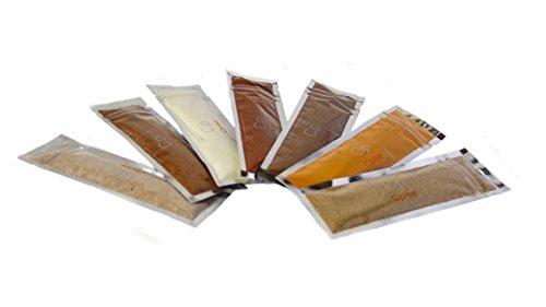 (Organic Spice Starter Kit with 7 Spices: Essential Indian Spices & Seasonings - Cardamom, Coriander, Cumin, Fenugreek, Mace, Garam Masala, Turmeric)
