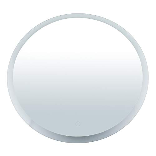 LUCKYFINE Bathroom mirror, Led Wall Hanging Round Mirror 5mm Explosion-Proof bluetooth LED bluetooth anti-fog Mirror��2 Light colors white light and warm white (Best Luckyfine Mirrors)