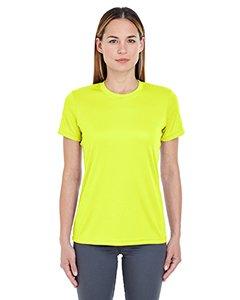 Yellow T-shirt Bright (UltraClub Ladies' Cool & Dry Basic Performance T-Shirt L BRIGHT YELLOW)