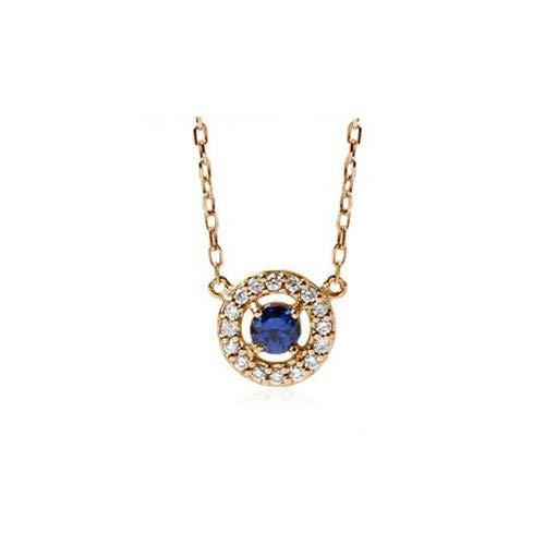 Unique 18k gold sapphire diamond necklace natural deep blue platinum natural sapphire birthday gift present necklace for women