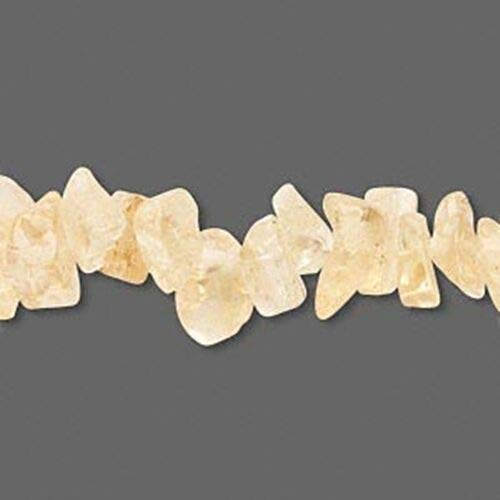 (Golden Citrine Gemstone Nuggets Chips Mix Beads 35pc ID-2398 )