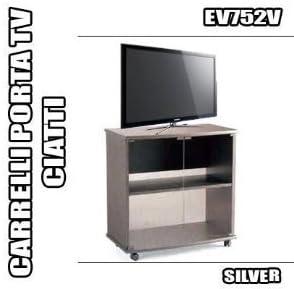 Mobili Ciatti Porta Tv.Rbn 07 Carrello Porta Tv Ciatti Ev752 Silver Mobile Con Ruote Salotto Casa Amazon It Casa E Cucina