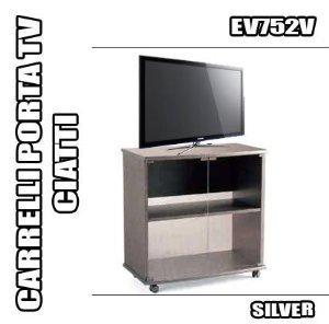 RBN 07 CARRELLO PORTA TV CIATTI EV752 SILVER MOBILE CON RUOTE ...