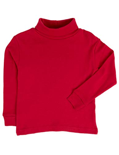 Leveret Solid Turtleneck 100% Cotton (3 Toddler, Red) (Turtles Neck Kids)