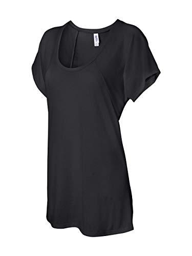 Bella Ladies Melody Flowy T-Shirt, black, Medium