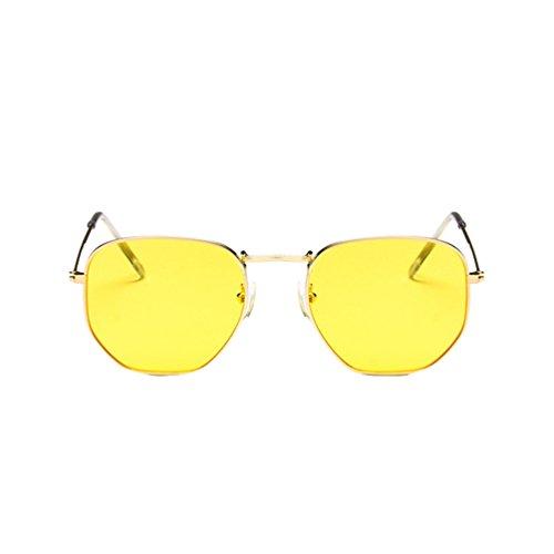 9beb5bb13e Ketamyy Unisexo Retro Marco De Meta Colorido Gafas De Sol Cuadradas Gafas  Sol Aviador Polarizados 50