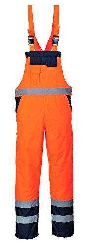 PortWest Men Contrast Bib /& Brace Unlined Workwear Multi Color and Size S488